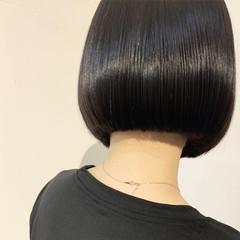 黒髪 ナチュラル ミニボブ ショートボブ ヘアスタイルや髪型の写真・画像
