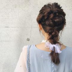 結婚式 パーティ ロング ヘアアレンジ ヘアスタイルや髪型の写真・画像