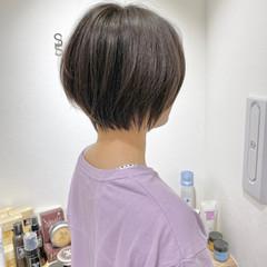 ナチュラル ショートヘア ワンカール ミニボブ ヘアスタイルや髪型の写真・画像