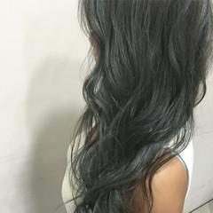 アッシュ スモーキーアッシュ スモーキーカラー モード ヘアスタイルや髪型の写真・画像