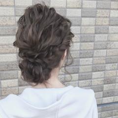 こなれ感 フェミニン セミロング ヘアアレンジ ヘアスタイルや髪型の写真・画像