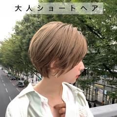 ナチュラル 大人女子 大人ショート ショート ヘアスタイルや髪型の写真・画像