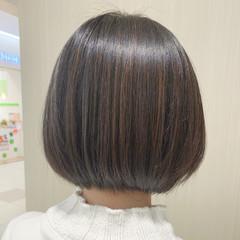 ショートボブ ワンレングス 切りっぱなしボブ ボブヘアー ヘアスタイルや髪型の写真・画像