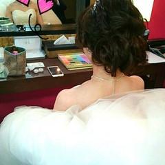 ハーフアップ ヘアアレンジ ゆるふわ ロング ヘアスタイルや髪型の写真・画像