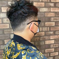 メンズカラー ナチュラル ショート メンズパーマ ヘアスタイルや髪型の写真・画像