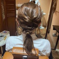 ふわふわヘアアレンジ ヘアアレンジ ナチュラル 結婚式ヘアアレンジ ヘアスタイルや髪型の写真・画像