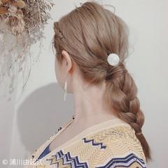 ナチュラル ロング ゆるふわ グラデーションカラー ヘアスタイルや髪型の写真・画像