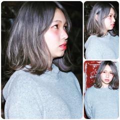 アッシュ ストリート ホワイト 外国人風 ヘアスタイルや髪型の写真・画像