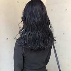 ブルージュ ダークグレー ネイビーブルー ナチュラル ヘアスタイルや髪型の写真・画像
