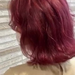 ボブ ピンク ベリーピンク ブリーチ ヘアスタイルや髪型の写真・画像