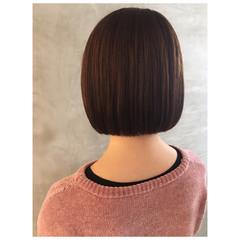ミニボブ タンバルモリ ブラウンベージュ モテボブ ヘアスタイルや髪型の写真・画像
