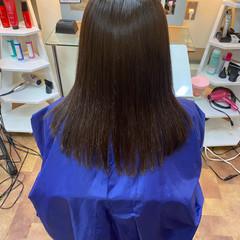 梅雨 ナチュラル サラサラ 縮毛矯正ストカール ヘアスタイルや髪型の写真・画像