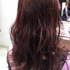 モテ髪 赤髪 セミロング 春スタイル ヘアスタイルや髪型の写真・画像