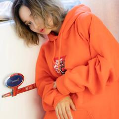 ミニボブ インナーカラー ウルフカット ボブ ヘアスタイルや髪型の写真・画像
