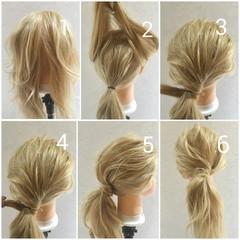 ゆるふわ 簡単ヘアアレンジ ロング 外国人風 ヘアスタイルや髪型の写真・画像