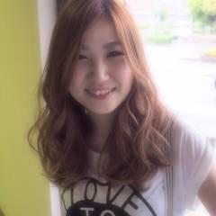 ストリート ナチュラル モテ髪 オレンジ ヘアスタイルや髪型の写真・画像