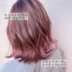 切りっぱなしボブ ウルフカット ナチュラル セミロング ヘアスタイルや髪型の写真・画像