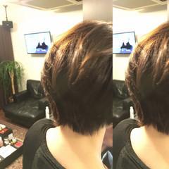 ボブ ショート レイヤーカット アッシュ ヘアスタイルや髪型の写真・画像