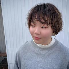 ショートボブ ガーリー 3Dハイライト ベリーショート ヘアスタイルや髪型の写真・画像