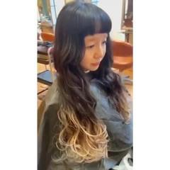 裾カラー ガーリー ダブルカラー ホワイトカラー ヘアスタイルや髪型の写真・画像