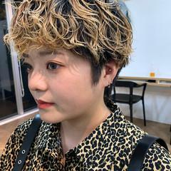 ブリーチオンカラー ストリート ブリーチ ショートヘア ヘアスタイルや髪型の写真・画像