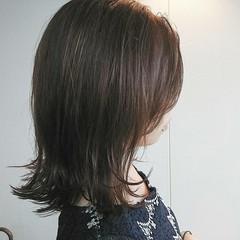 カーキ ボブ ナチュラル 透明感 ヘアスタイルや髪型の写真・画像