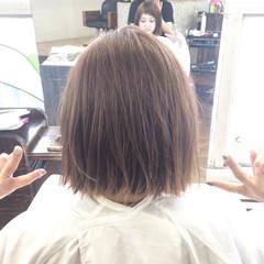 ワンレングス ストリート アッシュグレージュ ハイライト ヘアスタイルや髪型の写真・画像