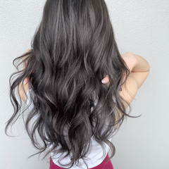 ホワイトハイライト エレガント 大人ハイライト ハイライト ヘアスタイルや髪型の写真・画像