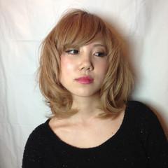 ストリート かっこいい ミディアム フェミニン ヘアスタイルや髪型の写真・画像