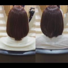 ナチュラル 髪質改善カラー 髪質改善トリートメント セミロング ヘアスタイルや髪型の写真・画像