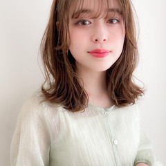 モテ髪 フェミニン 鎖骨ミディアム アンニュイほつれヘア ヘアスタイルや髪型の写真・画像