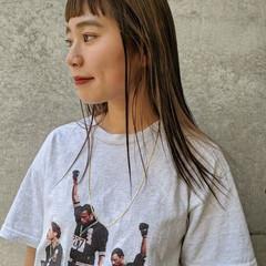 ローライト ロング ハイライト ナチュラル ヘアスタイルや髪型の写真・画像