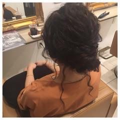 結婚式 セミロング ヘアアレンジ ゆるふわ ヘアスタイルや髪型の写真・画像