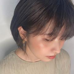 ナチュラル ショートヘア ショート 黒髪 ヘアスタイルや髪型の写真・画像