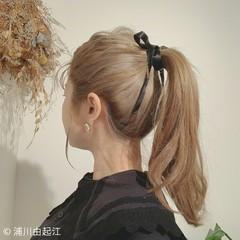 インナーカラー グラデーションカラー ミルクティーグレージュ 簡単ヘアアレンジ ヘアスタイルや髪型の写真・画像