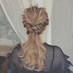 ウェーブ ハイライト ヘアアレンジ ロング ヘアスタイルや髪型の写真・画像