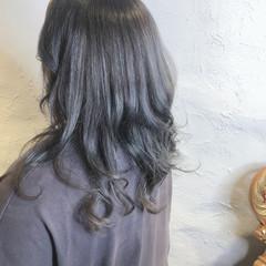 ロング ハイライト ブリーチカラー ナチュラル ヘアスタイルや髪型の写真・画像