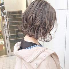 ボブ ナチュラル 大人かわいい アンニュイほつれヘア ヘアスタイルや髪型の写真・画像