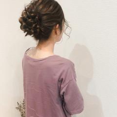 アップスタイル ヘアアレンジ アップ お団子 ヘアスタイルや髪型の写真・画像