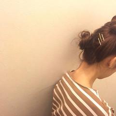 ヘアアレンジ お団子 ガーリー 愛され ヘアスタイルや髪型の写真・画像