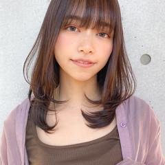 レイヤースタイル モテ髪 ナチュラル デジタルパーマ ヘアスタイルや髪型の写真・画像