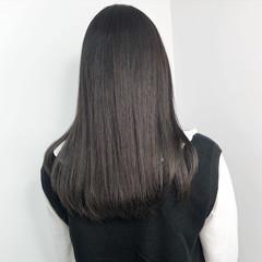 グレージュ ロング ミルクティー ショコラブラウン ヘアスタイルや髪型の写真・画像