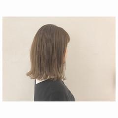 イルミナカラー ミディアム リラックス ロブ ヘアスタイルや髪型の写真・画像