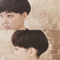 ベリーショート フリンジバング ショート ナチュラル ヘアスタイルや髪型の写真・画像