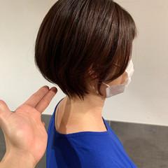 ハンサムショート フェミニン ショート ショートボブ ヘアスタイルや髪型の写真・画像