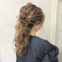 結婚式 ヘアアレンジ エレガント ロング ヘアスタイルや髪型の写真・画像
