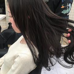 ロング ナチュラル 暗髪 ダークトーン ヘアスタイルや髪型の写真・画像