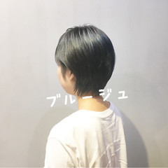 ターコイズブルー ブルージュ ネイビーブルー ブルーラベンダー ヘアスタイルや髪型の写真・画像
