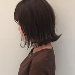 ボブ 抜け感 透明感 ベージュ ヘアスタイルや髪型の写真・画像