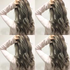 ブラウン ハイライト 渋谷系 暗髪 ヘアスタイルや髪型の写真・画像